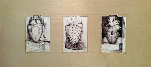Paolo GUIOTTO - Drawing-Watercolor - Studi sul cuore I