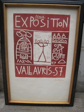 Pablo PICASSO - Estampe-Multiple - EXPOSITION  VALLAURIS  57