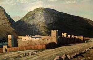 Pierre LABROUCHE - Painting - KSAR AU PIED DE L'ATLAS