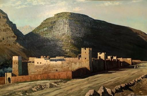 Pierre LABROUCHE - Peinture - KSAR AU PIED DE L'ATLAS