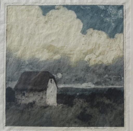 Luigi KASIMIR - 版画 - Haus und Wolken
