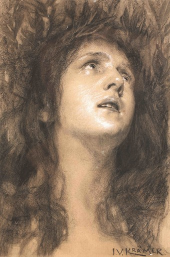 Johann Viktor KRÄMER - Drawing-Watercolor - Daphne