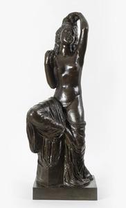 Joseph BERNARD - Sculpture-Volume - Jeune fille se coiffant