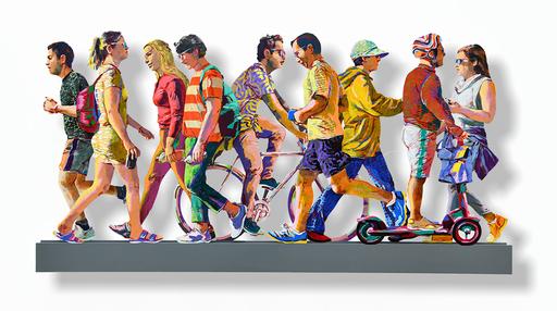 David GERSTEIN - Scultura Volume - TLV Beach Promenade (right)