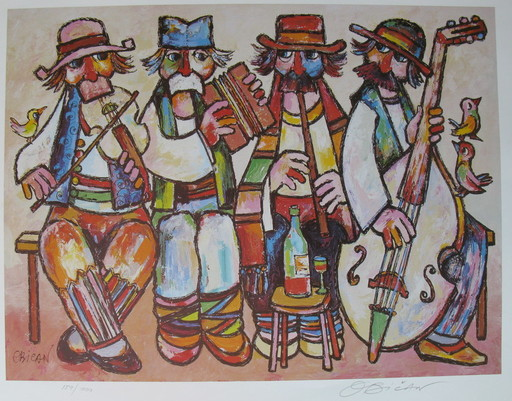 Jovan OBICAN - Druckgrafik-Multiple - Four Musicians