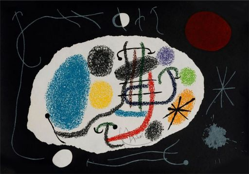 Joan MIRO - Estampe-Multiple - Le lézard aux plumes d'or