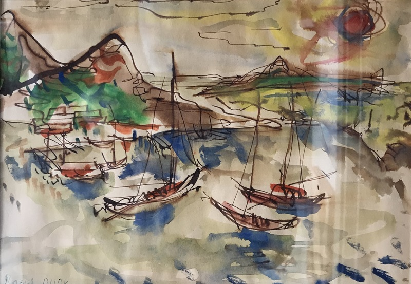 Raoul DUFY - Drawing-Watercolor - View of Honfleur