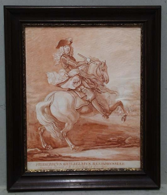 "Georg Philipp I RUGENDAS - Disegno Acquarello - ""Friedrich Wilhelm I., King of Prussia"""