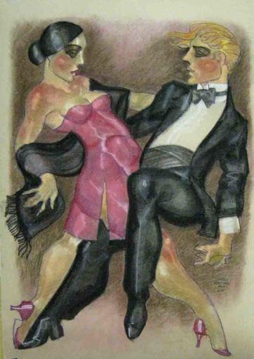 Juárez MACHADO - Drawing-Watercolor - Danseurs