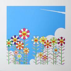 Takashi MURAKAMI - Grabado - Vapor Trail in the Blue Summer Sky