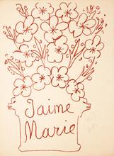 亨利·马蒂斯 - 版画 - J'aime Marie