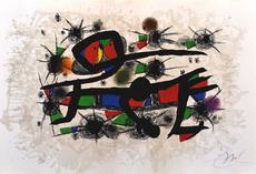 胡安·米罗 - 版画 - Painting= Poetry | Peinture = Poesie