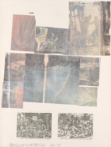 Robert RAUSCHENBERG - Stampa Multiplo - People Have Enough Trouble