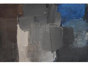 Alfredo CHIGHINE - Pintura - Composizione bianco e blu