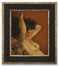 Michael LEONARD - Painting - Cloud of Dark Hair