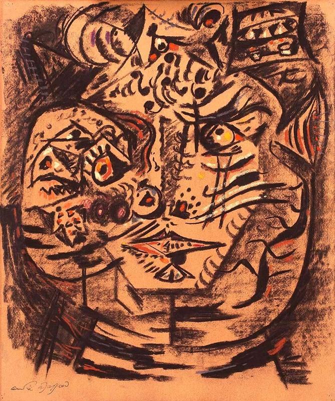 André MASSON - Disegno Acquarello - Le chat