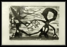 A.R. PENCK - Grabado - Idea for Sculpture #3