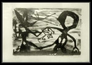 A.R. PENCK - Estampe-Multiple - Idea for Sculpture #3