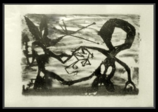 A.R. PENCK - Estampe-Multiple - Idea for Sculpture #3