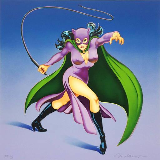 Mel RAMOS - Grabado - Cat Woman #1
