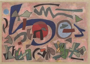 Otto NEBEL - Dibujo Acuarela - Streng, dock locker(Sévére, mais mouvant)