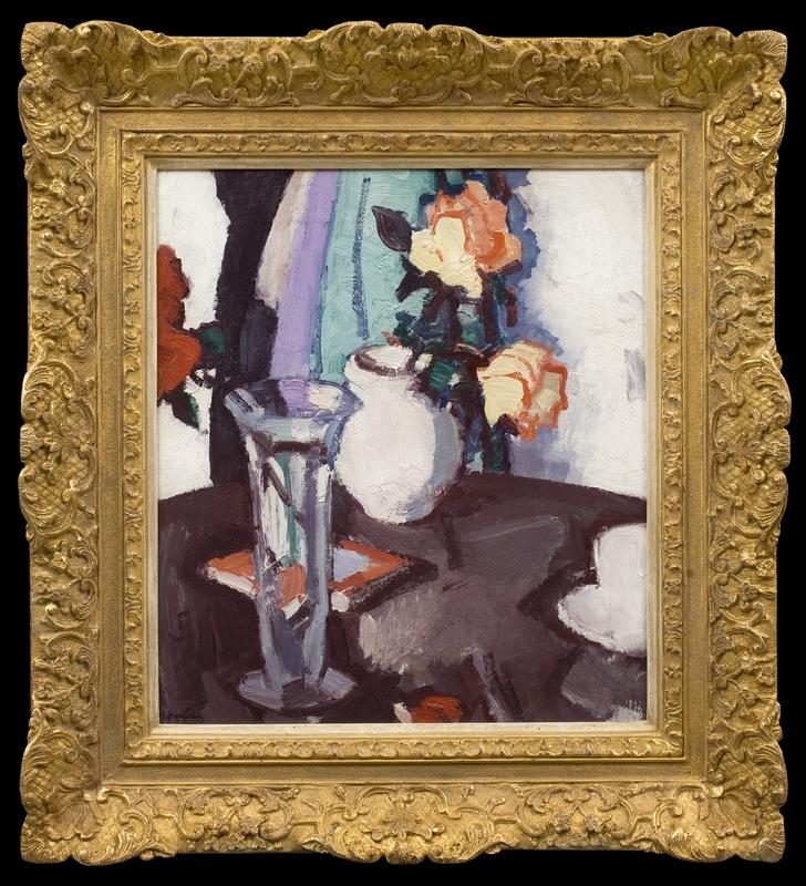 Samuel John PEPLOE - Painting - Still Life with Roses