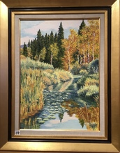 Raymonde AUBRY - Painting - La Lemme en Automne