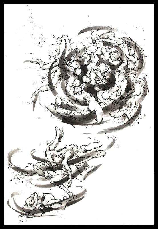 Marie TAKLANTI - Drawing-Watercolor - Vortex 1