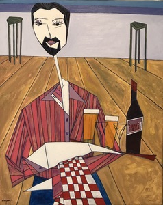 Abraham DAYAN - Peinture - Le Garçon de Café