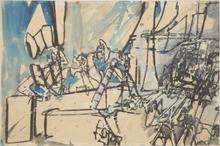 Valerio ADAMI - Drawing-Watercolor - Senza titolo