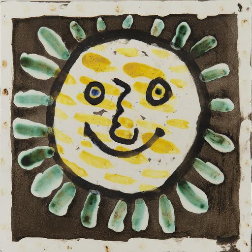 Pablo PICASSO - Ceramiche - Visage soleil