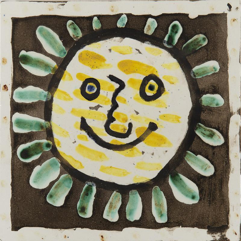 Pablo PICASSO - Céramique - Visage soleil