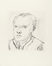 Max BECKMANN - Print-Multiple -  Selbstbildnis - Self-portrait