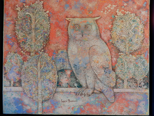 Sakti BURMAN - Painting - Owl