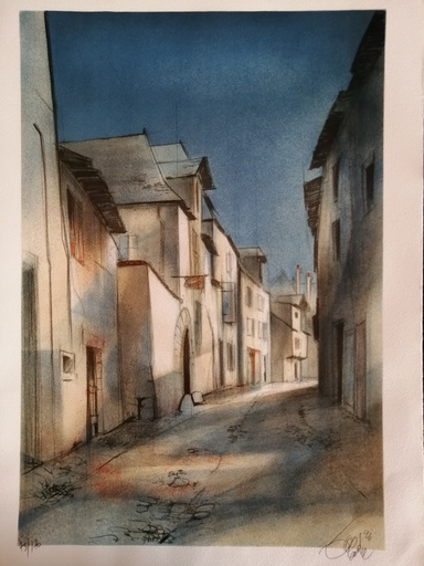 Jean-Baptiste VALADIÉ - Druckgrafik-Multiple - Brive - Rue Basse