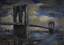 Otto Rudolf SCHATZ - Painting - Brooklyn Bridge