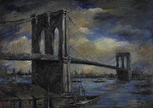Otto Rudolf SCHATZ - Pittura - Brooklyn Bridge