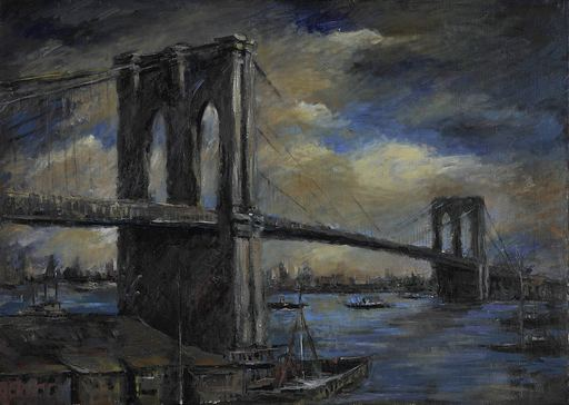Otto Rudolf SCHATZ - Pintura - Brooklyn Bridge