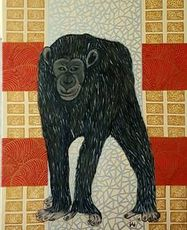 Annemarie HOFFMANN - Painting - Affe unter fremden Bäumen    (Cat N° 6388)