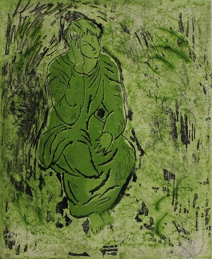 桑德罗·基亚 - 版画 - Donna seduta