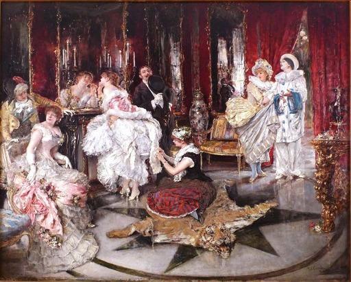 Eduardo Léon GARRIDO - Painting - Antes del baile
