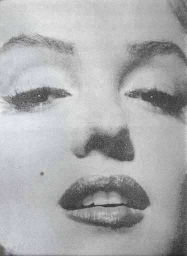Russell YOUNG - Estampe-Multiple - Marilyn Close Up (Atomic Silver and Black)