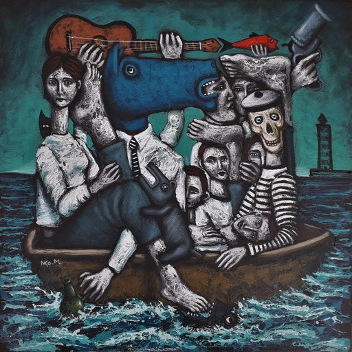 Nicolas MONJO - Painting - Les estivants