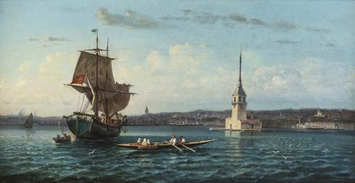 Michel WILLENIGH - Peinture - Maiden's Tower on the Bosphorus