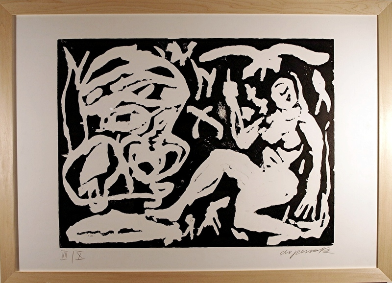 A.R. PENCK - Estampe-Multiple - O.T.