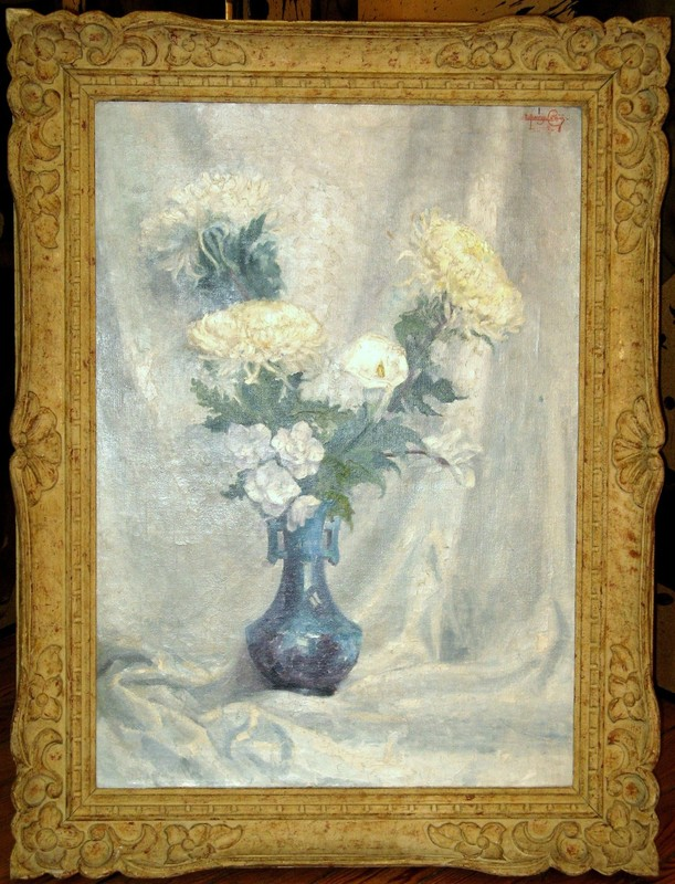 Lorenzo CODINI - Pittura - LE GRAND BOUQUET BLANC