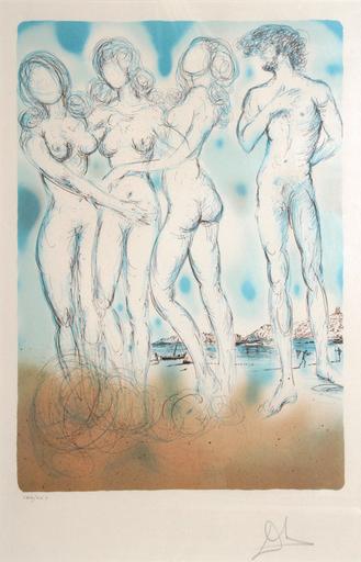 Salvador DALI - Stampa Multiplo - The Judgment of Paris