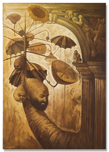 Victor HUERTA BATISTA - Pintura - Hombre y arbol