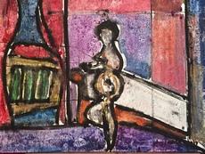 Christian DURIAUD - Peinture - Nu devant la fenêtre