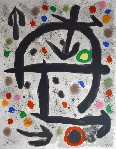 胡安·米罗 - 版画 - Composition V, from: The Perseids